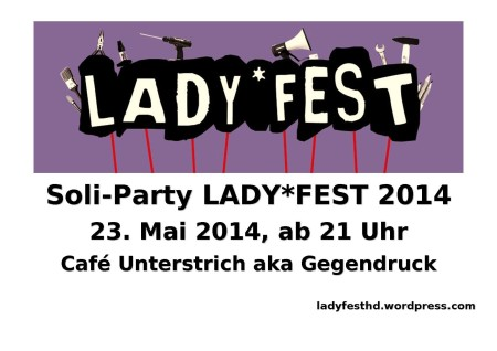 Soli-Party LADYFEST 2014_bunt
