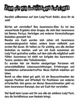 Zine für eine umsichtiges Ladyfest_2015